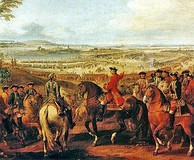 Marshal Maurice de Saxe at the Battle of Lauffeld, 1747