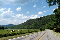 View from the Ozark Highlands Scenic Byway in Boxley Valley