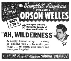 "Newspaper advertisement for The Campbell Playhouse presentation of ""Ah, Wilderness"" (September 17, 1939)"