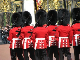 The dismounted guard founded by the infantry is called the Queen's Guard