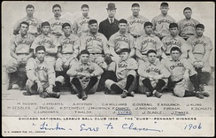 Chicago reached the World Series four times between 1906 and 1910, winning twice.