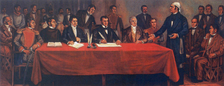 Congress of Anahuac the day of the writing of Solemn Act of the Declaration of Independence of Northern America