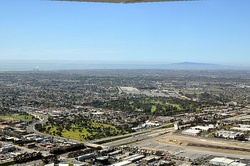 An aerial view of Costa Mesa in March 2011