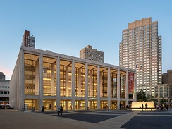 David Geffen Hall, home of the New York Philharmonic in Lincoln Center