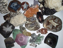 A collection of various minerals.