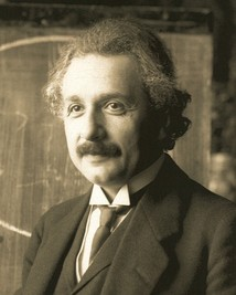 Albert Einstein (1879–1955), whose work on the photoelectric effect and the theory of relativity led to a revolution in 20th century physics