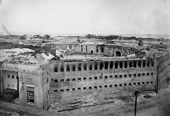 The citadel at Fort Morgan as it appeared after its surrender following the Battle of Mobile Bay.