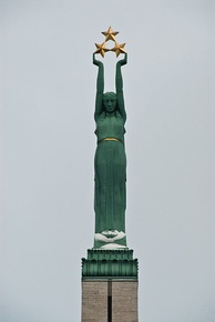Figure of Liberty on the Freedom Monument in Riga, focus of the 1986 Latvian demonstrations