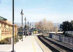 View of Fremont-Centerville (Amtrak station) from Platform #1
