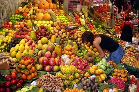 A fruit stall in Barcelona