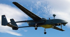 An IAI Heron - an unmanned aerial vehicle with a twin-boom configuration