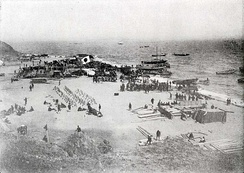 Japanese landing on Liaodong Peninsula, 1909