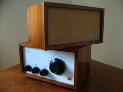 The KLH Model Eight FM table radio featured a precision planetary-geared knob for tuning, excellent sound quality, and a minimalist design.