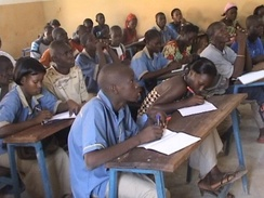 High school students in Kati
