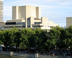 National Theatre, London, exterior showing fly towers.