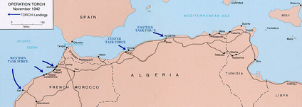 Operation Torch landings in Morocco and Algeria