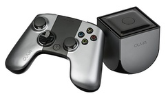 Ouya, a video game console which runs Android