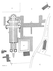 A plan of the Abbey.