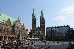 Bremen's city hall, cathedral and Bürgerschaft