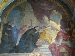 Ignatius receiving papal bull