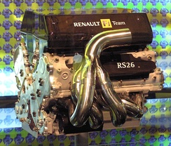 Renault F1 RS26 (2006), 2,398 cc (146 cu in) V8 engine