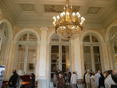 The salon Abel de Pujol, with neoclassic grisaille paintings of famous French rulers on the ceiling