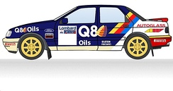 1991 Q8 Ford & Autoglass livery as used on the Lombard RAC Rally
