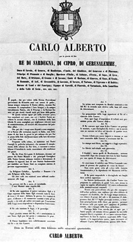 The Statute was adopted as the constitution of the Kingdom of Italy, granting freedom of the press.