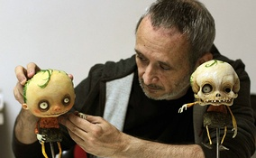 Stefano Bessoni, Italian filmmaker, illustrator and stop-motion animator working on Gallows Songs (2014)