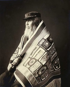 Chief Anotklosh of the Taku Tribe of the Tlingit people, ca. 1913