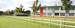 The new Stanbridge building at Wykham Park Academy from the south