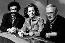 1973 show panel: Gene Shalit, Barbara Walters and Frank McGee