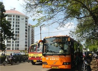 A KSRTC bus in the city