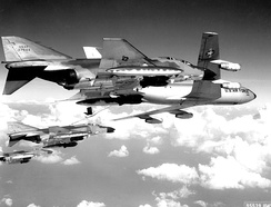 8th TFW F-4C Phantoms refueling en route to a target in North Vietnam.