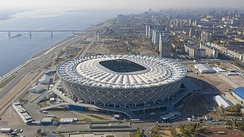 Aerial view of the Volgograd Arena in 2018