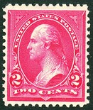Original 1890 George Washington Issue without the corner triangles.