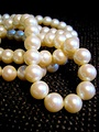 A necklace of white pearls