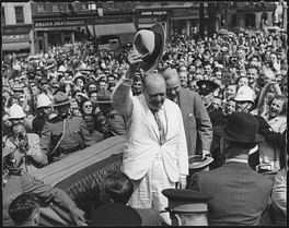 Winston Churchill in Québec City in 1943