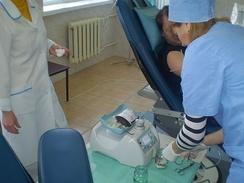 Забор небольшого количества крови на анализы от донора