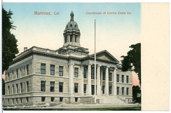 Postcard showing the Contra Costa County Courthouse in 1906.