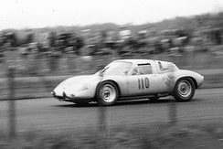 Gurney/Bonnier Porsche 718 GTR at the Nürburgring in 1962.