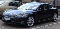 Tesla Model S, since 2012. 0 to 100 km/h in 2.5 seconds, recharging in 30 minutes to 80 percent, range 600 km