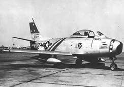 23d Fighter-Interceptor Wing North American F-86A-5-NA Sabre 49-1122, Presque Isle AFB, Maine, 1952 (marked as Wing Commander's aircraft)
