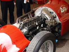 This Alfa Romeo 159 supercharged straight-8 engine of 1950s could produce up to 425 bhp.