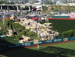 "The centerfield rockpile, also known as the ""California Spectacular"""