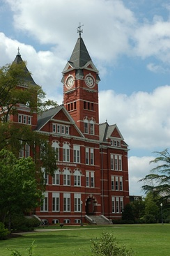 Samford Hall, located on College Street in Auburn, houses the University's administration.