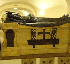 Tomb of Benedict XV in the grottoes of St. Peter's Basilica in Vatican City