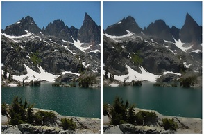 Left: original image. Right: image processed with bilateral filter
