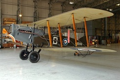 The World War I British Bristol F.2 is one of the few biplanes to ever have ventral cabane struts.