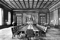 The New Reich Chancellery's Reich government chamber (cabinet room) in 1939.